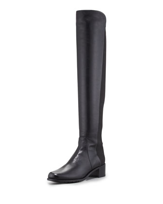 Reserve Wide Napa Stretch Over-the-Knee Boot, Black