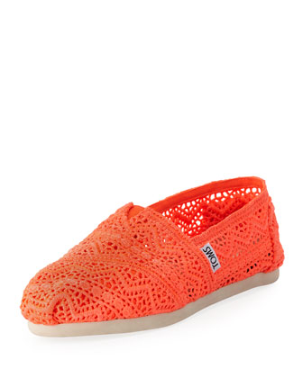 Crochet Slip-On, Orange