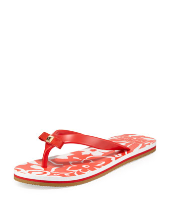 fiji rubber flip flop, maraschino red