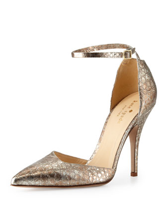 liliana metallic snake-print pump