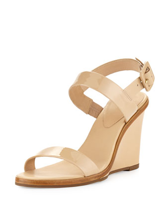 nice strappy patent wedge