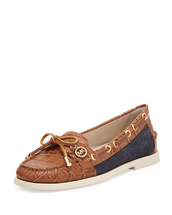 Blair Denim/Leather Moccasin