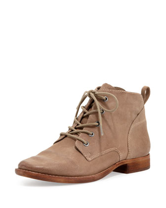 Mare Lace-Up Bootie, Putty