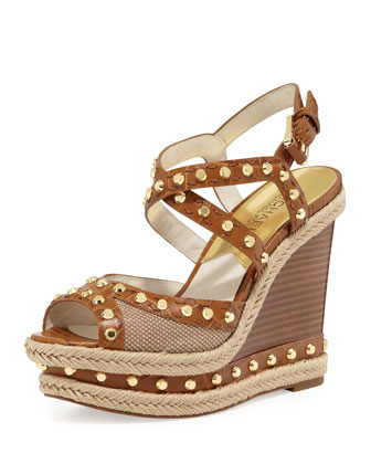 Jade Studded Wedge Sandal