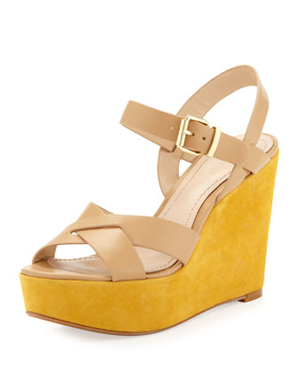 Lysa Wedge Sandal, Tan