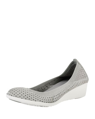 Gilmore Perforated Suede Wedge, Paloma