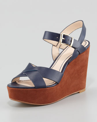 Lysa Wedge Sandal, Navy