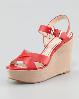 Lysa Wedge Sandal, Red