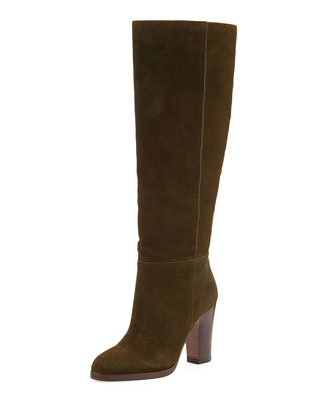 Reese Suede Knee Boot, Army