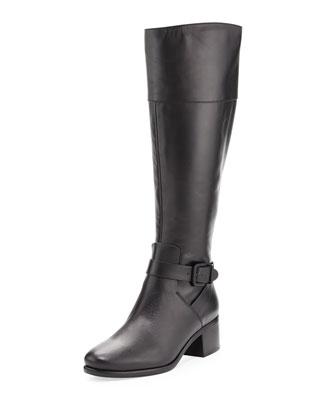 Shae Leather Knee Boot, Black