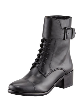 Sibel Cap-Toe Combat Boot
