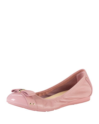 Air Monica Leather/Patent Ballerina Flat, Blush