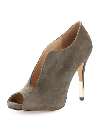 Vivie Suede Bootie, Charcoal