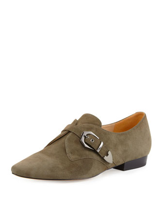 Zandra Suede Oxford, Charcoal