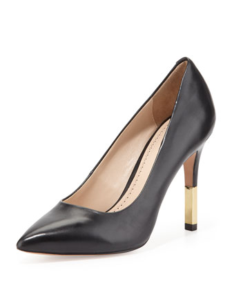 Camrin Leather Dress Pump, Black