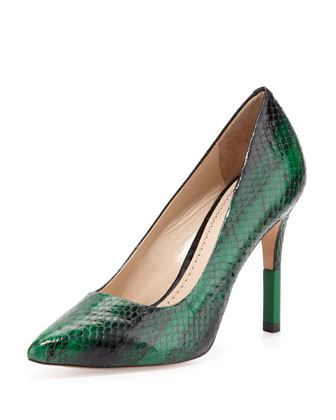 Camrin Watersnake Dress Pump, Emerald