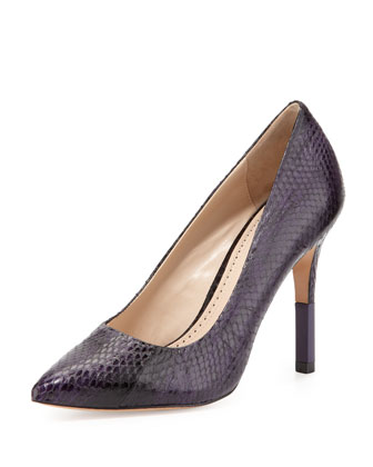 Camrin Watersnake Dress Pump, Plum