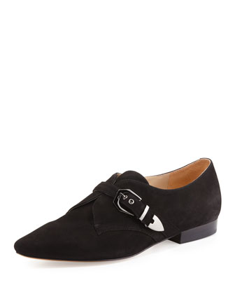 Zandra Suede Oxford, Black