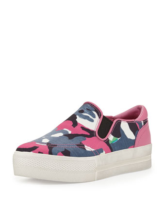 Jungle Blis Printed Slip-On, Pink/Blue
