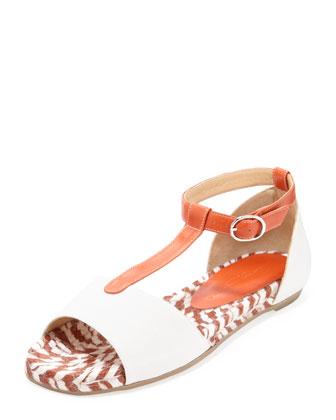 Flat T-Strap Espadrille Sandal