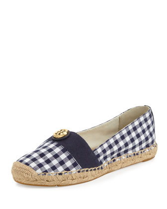 Beacher Gingham Flat Espadrille