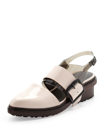 Cristobal Slingback Sandal, Powder/Black