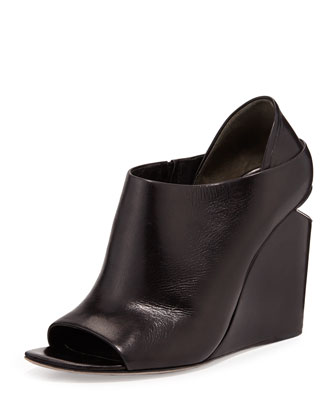 Alla Peep-Toe Wedge Bootie