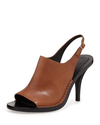 Stella Leather Slingback Sandal