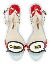 Queen Bee Slingback Sandal, Yellow/Black