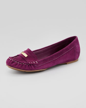suede moccasin driver, amethyst