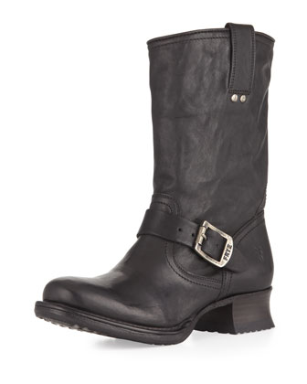 Martina Engineer Short Boot, Black