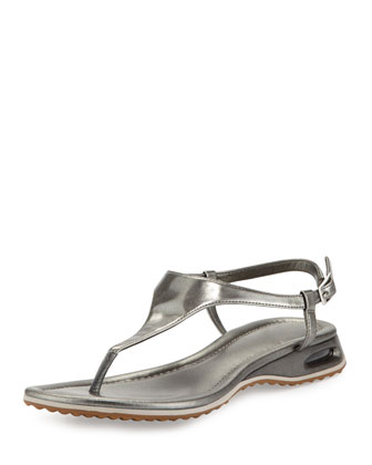 Air Bria Patent Thong Sandal, Gunsmoke
