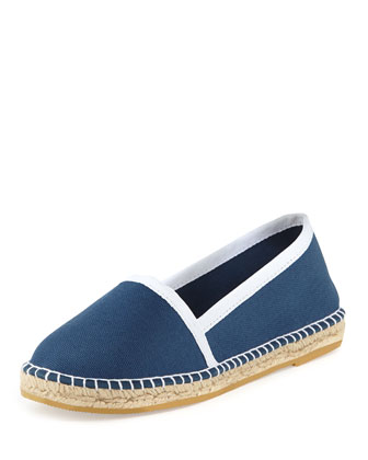 Terri Canvas Espadrille Flat, Blue