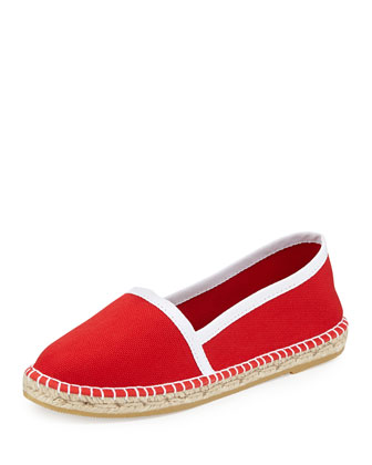 Terri Canvas Espadrille Flat, Red