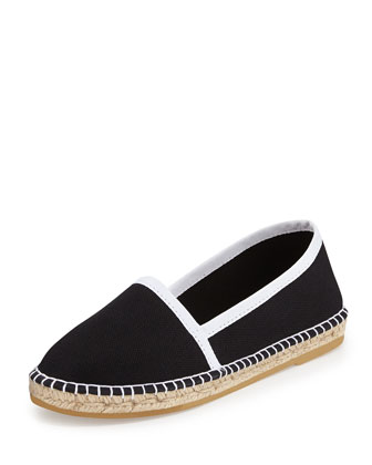 Terri Canvas Espadrille Flat, Black