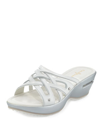 Air Ezra Strappy Wedge, White