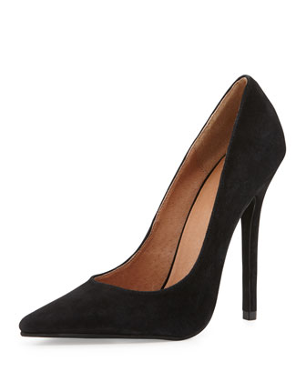 Darling Suede Pump, Black