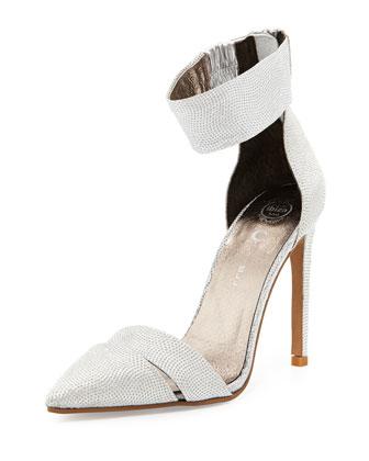 Adelyn Glitter d'Orsay Pump, Silver Bling