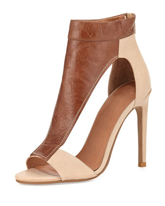 Vandross Wide T-Strap Sandal, Brown/Tan