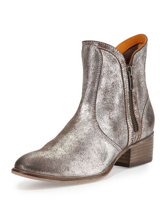 Lucky Penny Metallic Bootie, Pewter