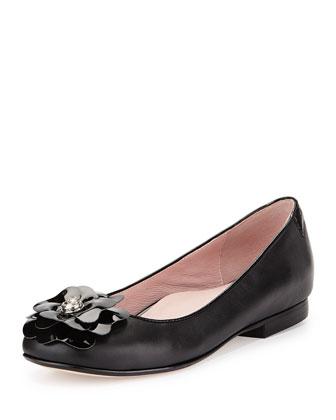 Britten Flower Ballerina Flat, Black