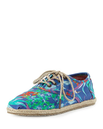 Birds of Paradise Espadrille Cordones, Blue