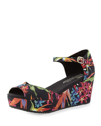Birds of Paradise Platform Wedge