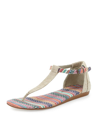 Striped Burlap Playa Sandal
