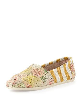 Tropical Safari Stripe Slip-On