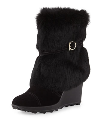 Nuccio Fur Cold Weather Boot, Nero