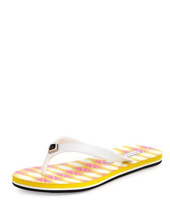 Finley Rubber Flip-Flop, Yellow
