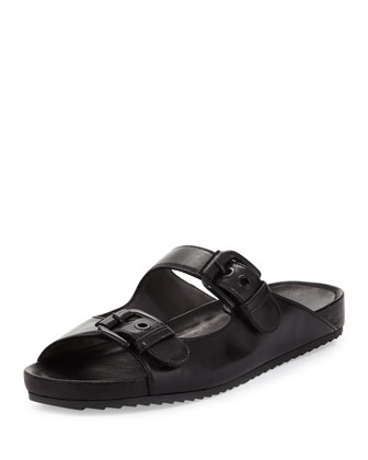 Freely Napa Leather Sandal, Black