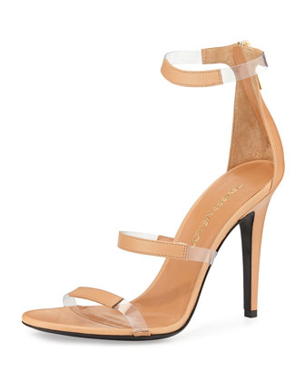 Napa Triple-Band Sandal, Nude