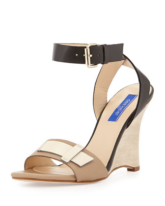 Andy Ankle-Strap Wedge Sandal